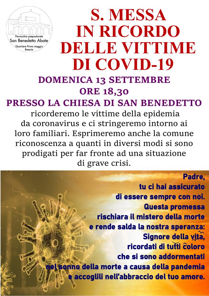S.Messa in ricordo delle vittime di Covid-19
