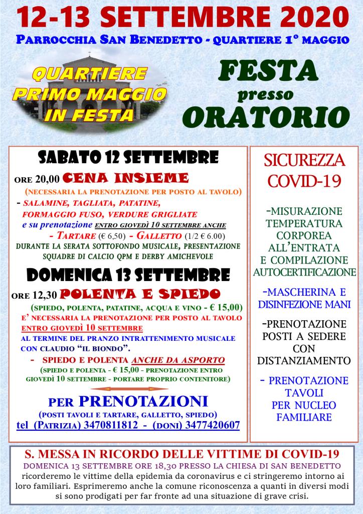locandina festa settembre 2020